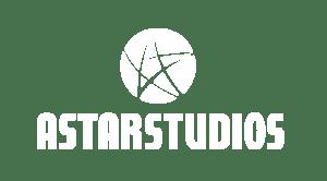 Astar studio white logo with alpha