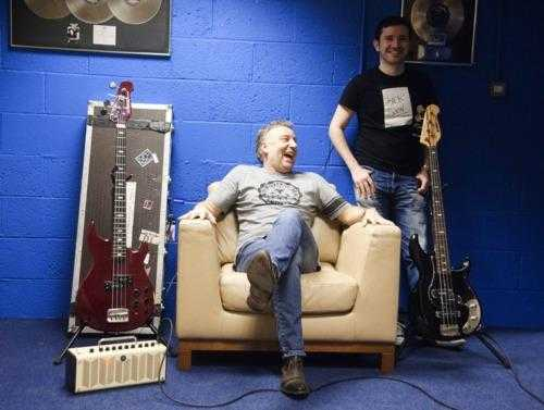 Peter Hook laughs